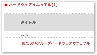 H8/3694グループ ハードウェアマニュアル